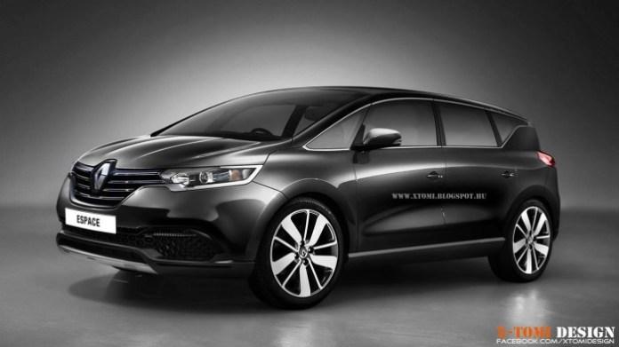 Renault Espace 2015 Rendering