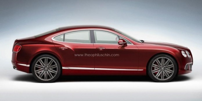 Bentley four-door coupe rendering
