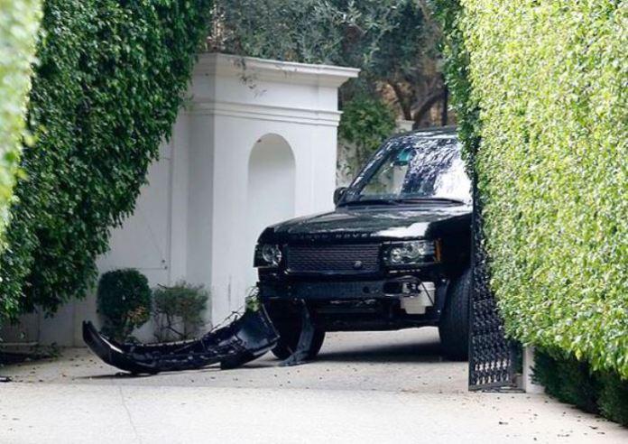 David Beckham crash (2)