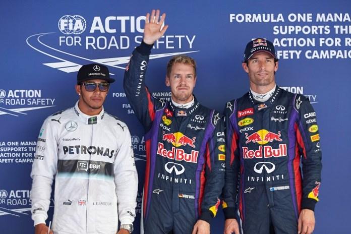 Hamilton-Vettel-Webber
