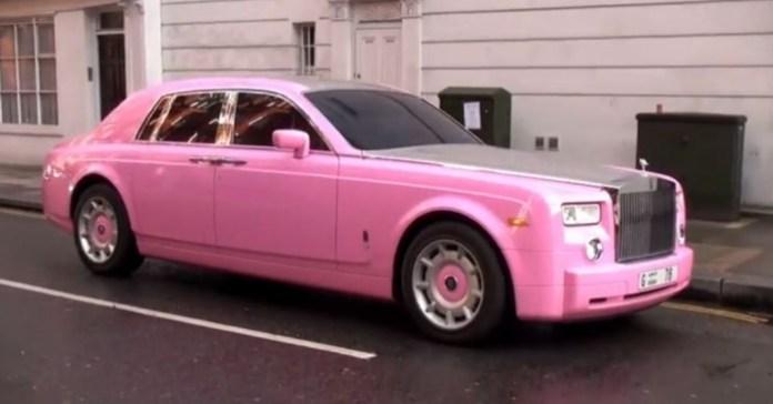Pink Rolls-Royce Phantom