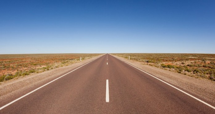 Stuart highway in Australia