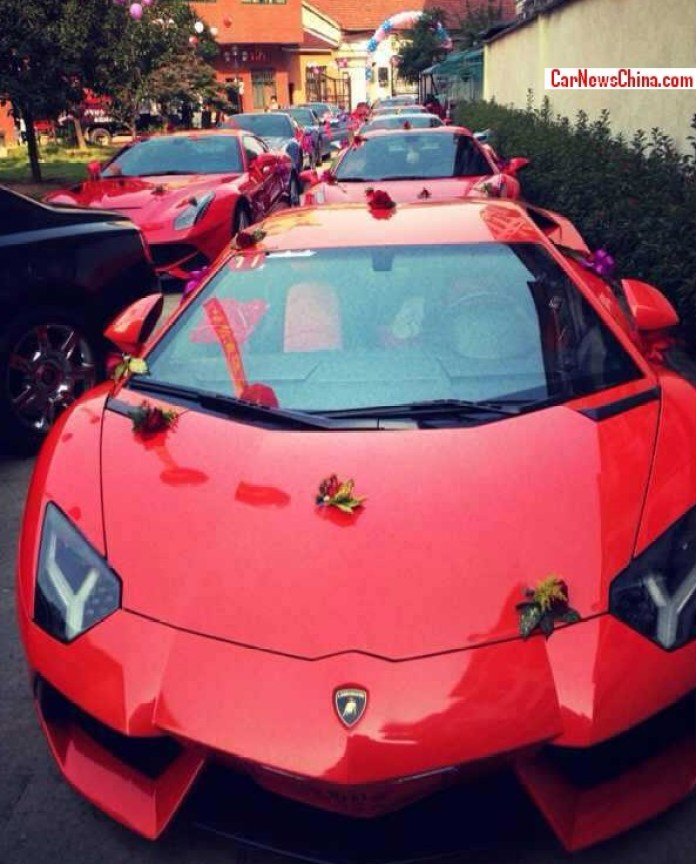 Wedding with supercars on China (4)