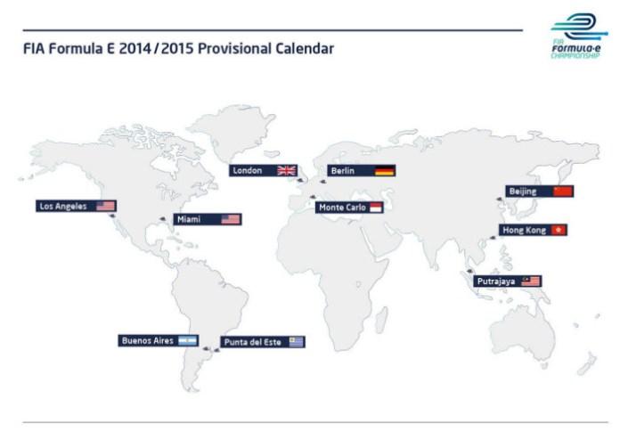 Provisional Formula E Calendar