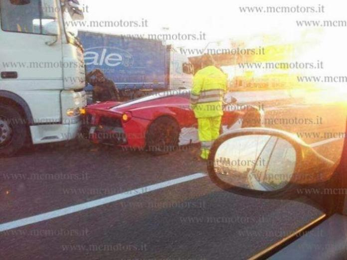 LaFerrari accident