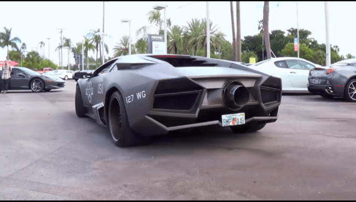 Lamborghini Murcielago bodykit and jet exhaust