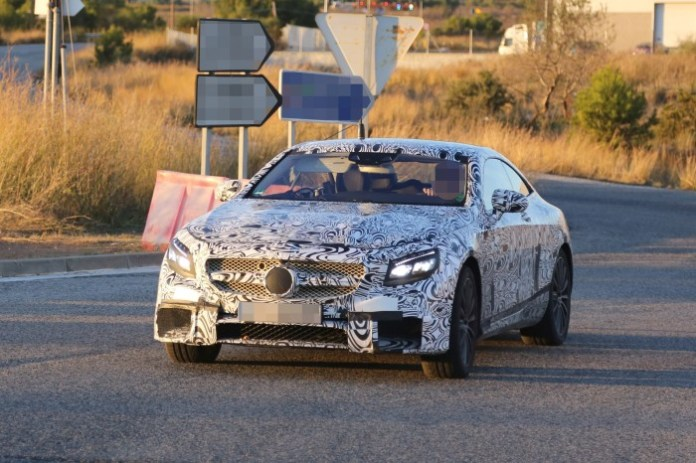 Mercedes-Benz S63 AMG Coupe 2015 Spy Photos (1)