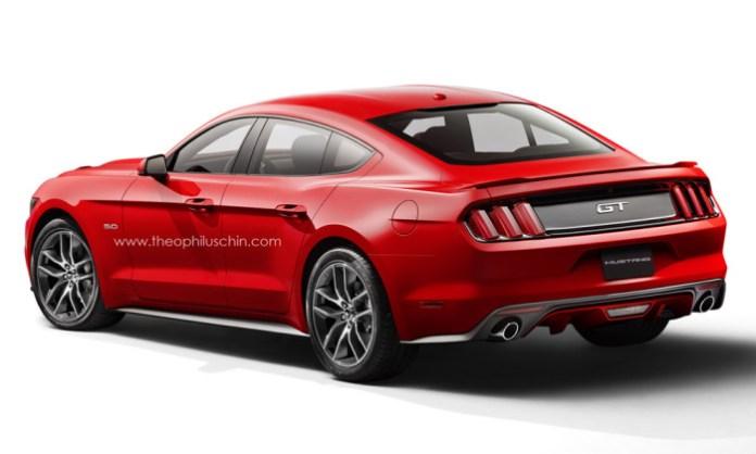2015 Ford Mustang sedan rendering (2)