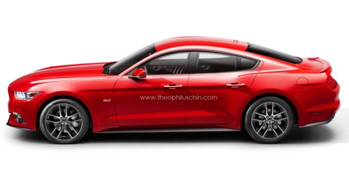 2015 Ford Mustang sedan rendering (3)