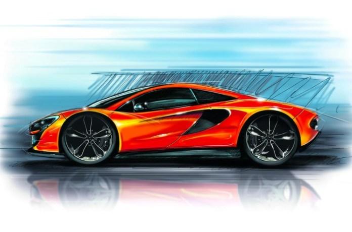 McLaren P13 official design sketch