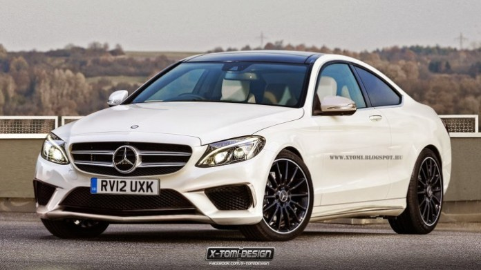 Mercedes C-Class Coupe, Estate and AMG Renderings (1)