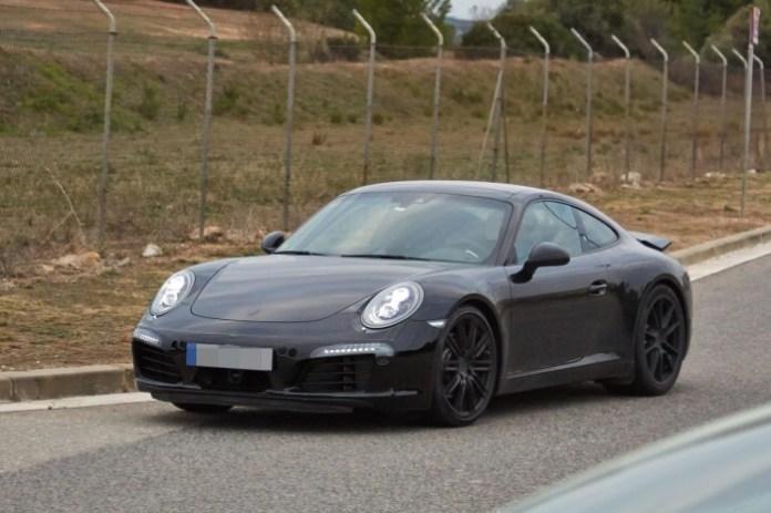 Porsche 911 facelift 2015 Spy Photos (2)