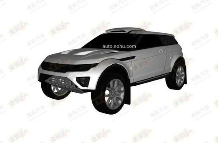 Rally-spec Range Rover Evoque patent photo (1)