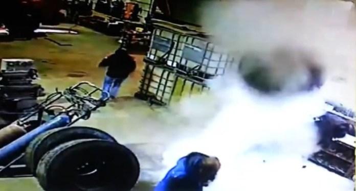 tire explode