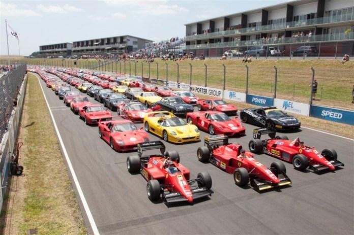 140 Ferraris at Hampton Down MotorSport Park for New Zealand Festival of Motor Racing (1)
