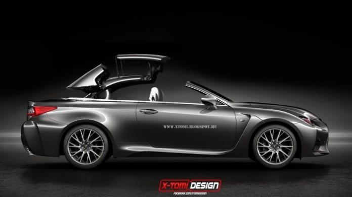 Lexus RC F cabrio rendering
