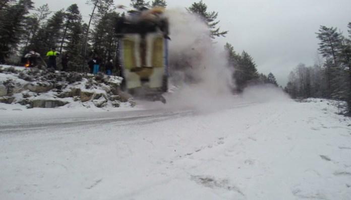 Marius Aasen crash Sigdalsrally
