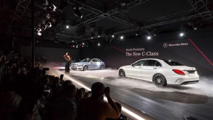 Mercedes Benz C-Class 2015 Live Photos from Detroit 2014 (8)