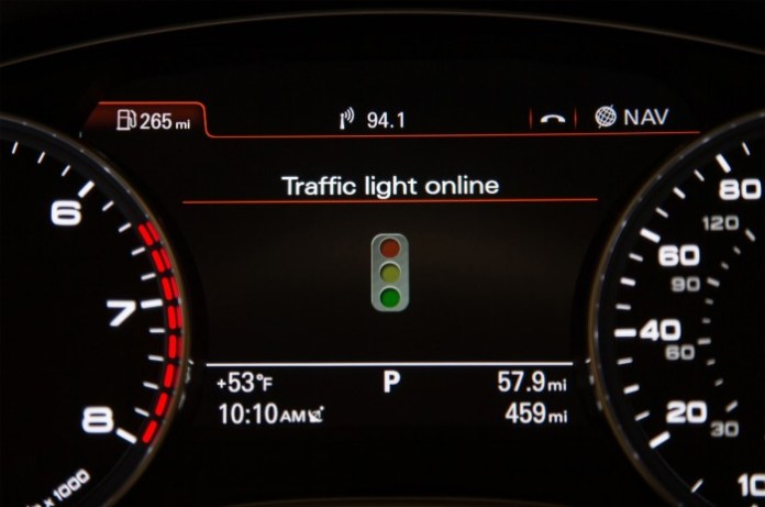 Audi models see the light to trim down traffic queues (1)