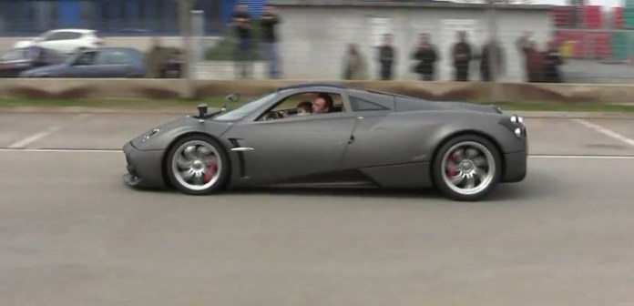 Pagani Test Driver takes his son for a joy ride
