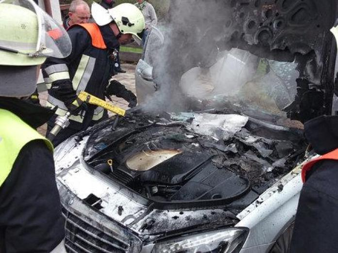 Mercedes-Benz S-Class fire in Germany