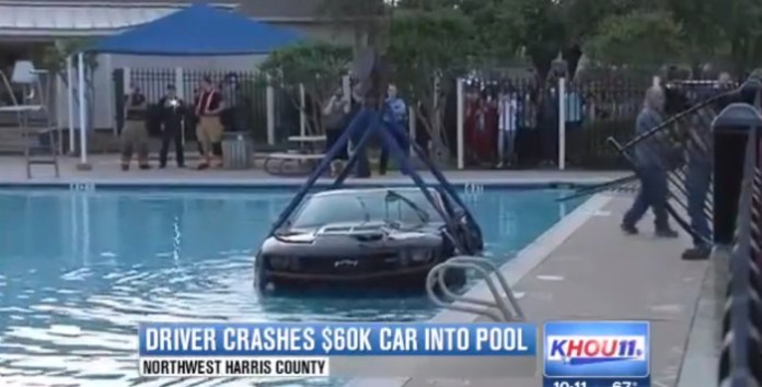 Driver crashes $60K car into community pool