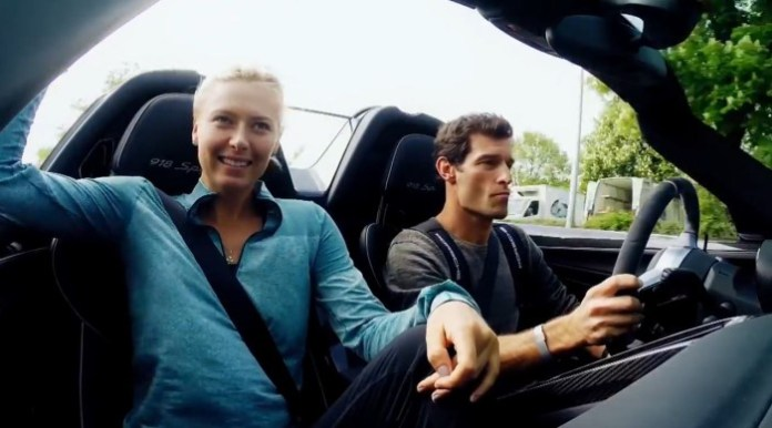Maria Sharapova and Mark Webber Joyride in the 918 Spyder