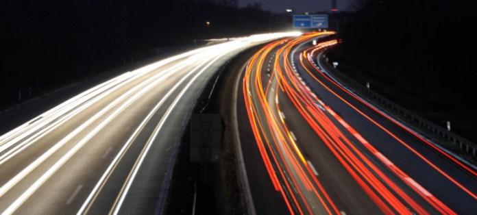 traffic nigh lights