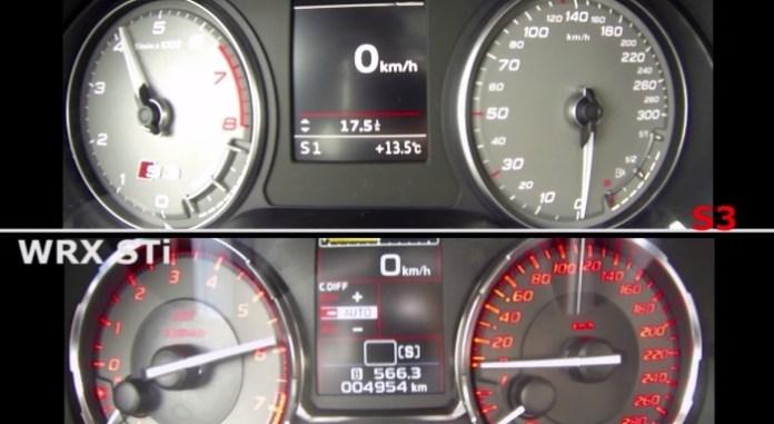 Audi S3 Sportback Vs Subaru WRX STi