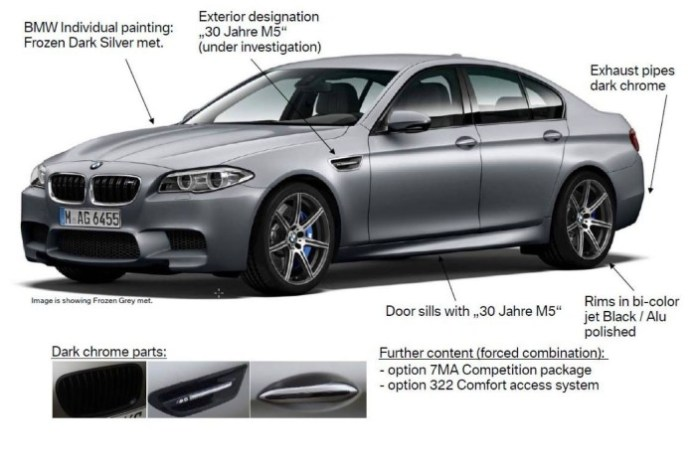 BMW M5 Edition 30th Anniversary with 600 hp