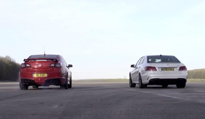 Mercedes-Benz E 63 AMG S Vs Vauxhall VXR8 GTS