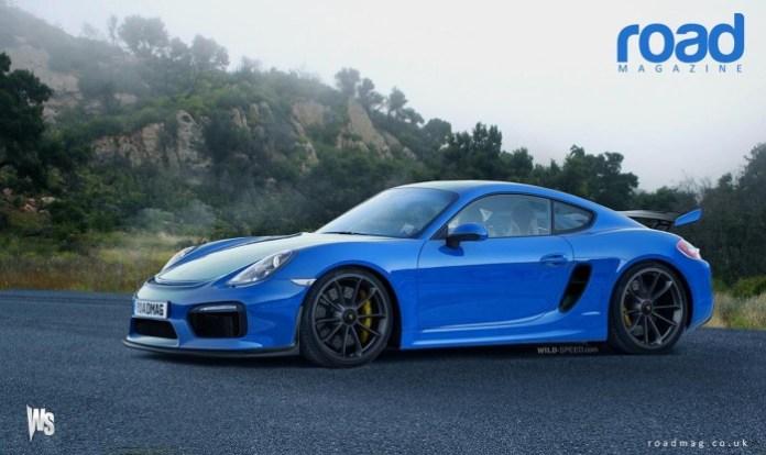 Porsche Cayman GT4 rendering
