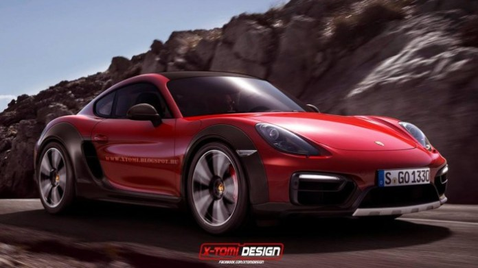 Porsche Cayman Safari rendering