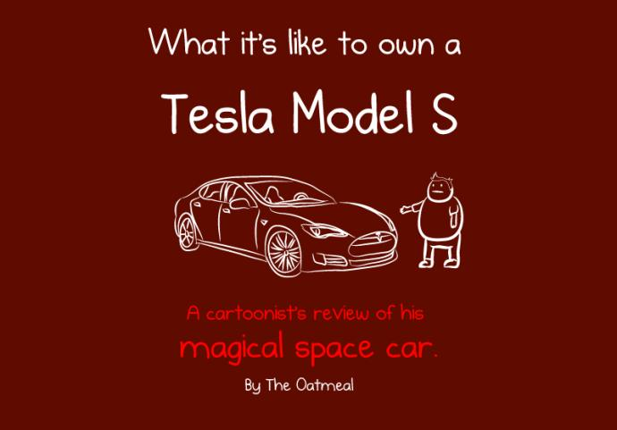 What it is like ot own a Tesla Model S drawings
