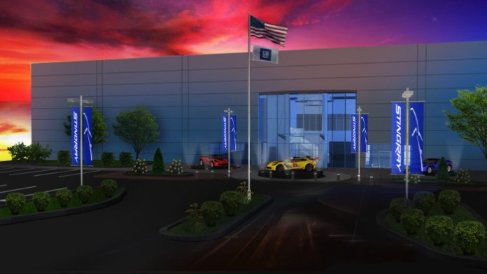 Rendering of the exterior of the new General Motors Performance