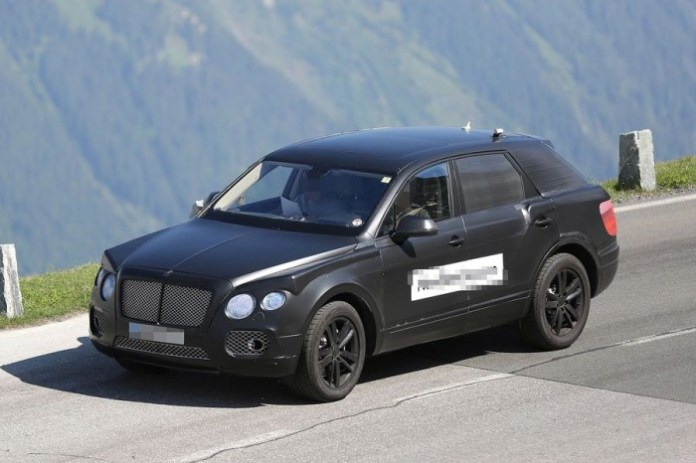 Bentley crossover 2016 Spy Photos