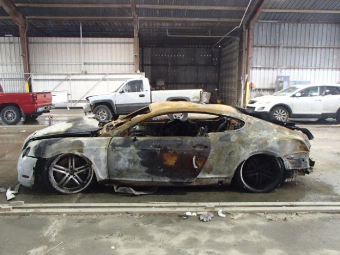 Burnt Bentley Continental GT