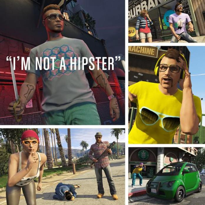 Grand Theft Auto V I'm Not a Hipster update poster