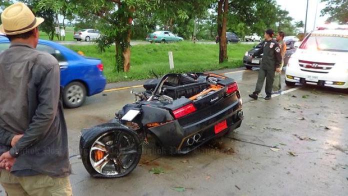 Lamborghini Gallardo crash in Thailand (4)