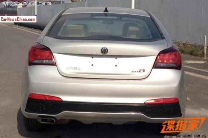 2015 MG6 facelift spy photo