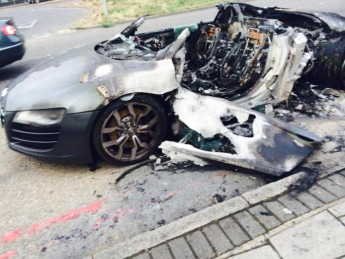 Audi R8 melted in London 03