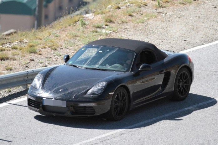 Porsche Boxster facelift 2016 Spy Photos