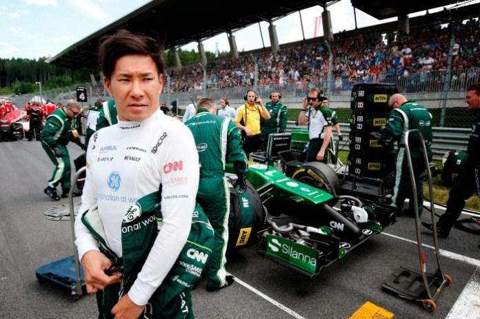 2014 Austrian F1 GP Kobayashi-grid
