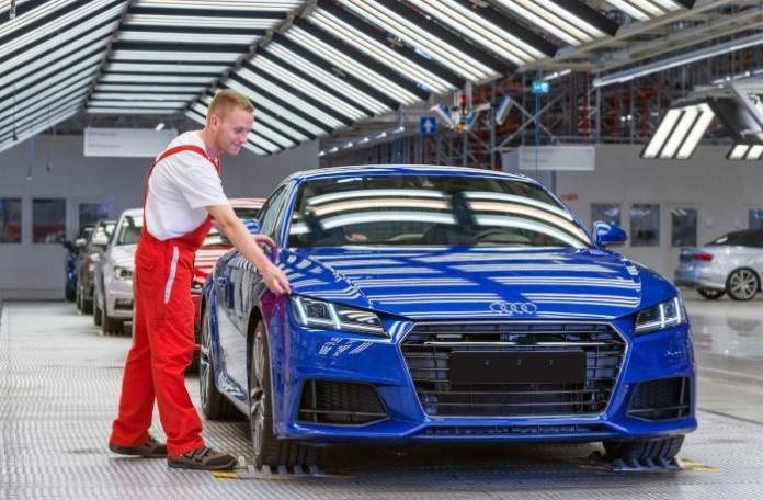 Audi TT production factory plant