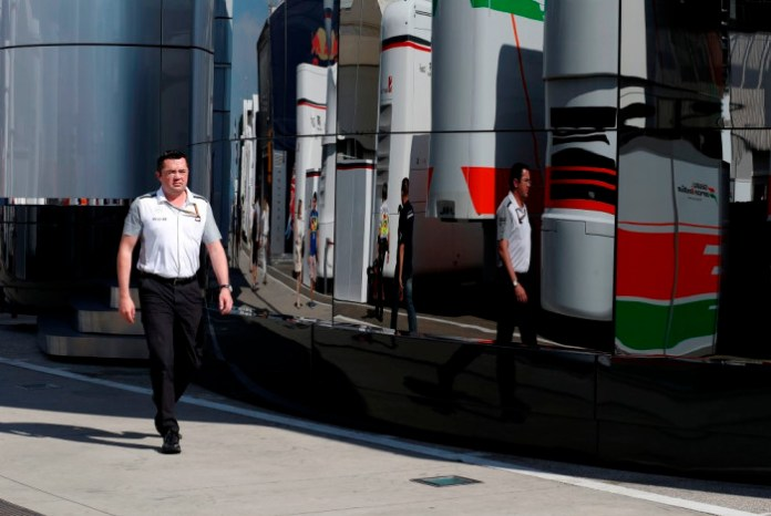 Eric Boullier in the paddock.
