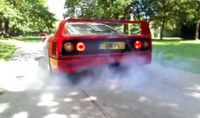 Ferrari F40 Burnout
