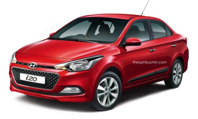 Hyundai i20 Sedan rendering (2)