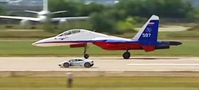 Lamborghini vs Su-27 Flanker