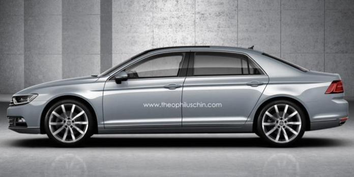 Volkswagen Phaeton rendering