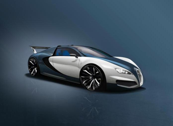 bugatti veyron succesor rendering